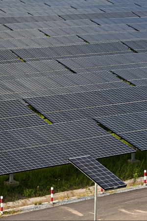 photovoltaic panels solar field Stock Photo - 11810865