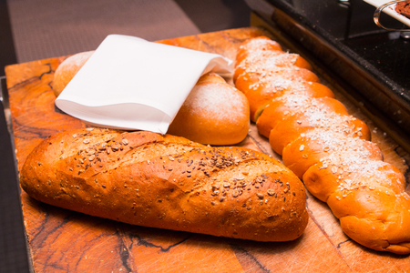 Baguette at the buffet line