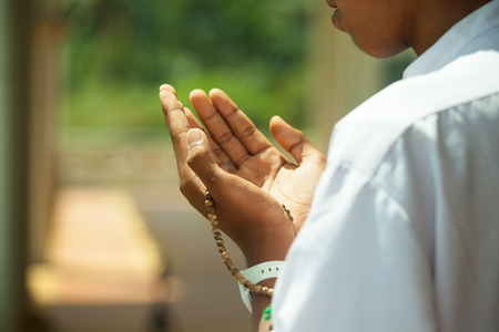 Muslim pray   Stock Photo