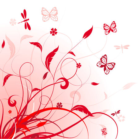 vector floral background Stock Vector - 5385662