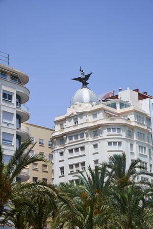 Alicante, Spain - June 30, 2016: View of the old town from Avenue Admiral July Guillen Tato in Alicante. Editoriali