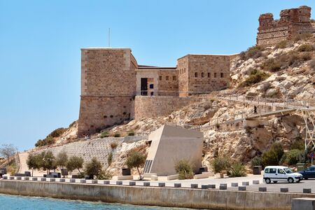 The Christmas fort. Cartagena, Spain.