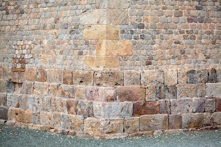 Wall of Carlos III. View to ancient fortification of Cartagena, Spain. Military engineer Mateo Vodopic, who, along with Sebastian Fairing built this wall.