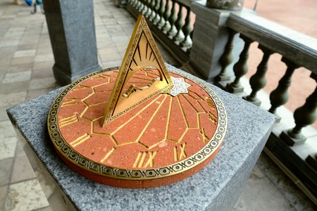 antiquity: Sundial. Installed next to the monument to russian emperor Paul on the parade ground of the Gatchina Palace.
