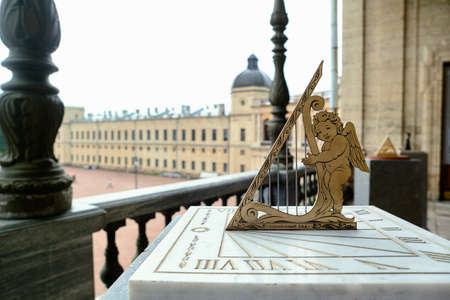 Sundial. Installed next to the monument to russian emperor Paul on the parade ground of the Gatchina Palace.