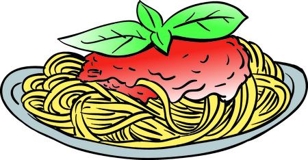 spaghetti,pasta vector cartoon style