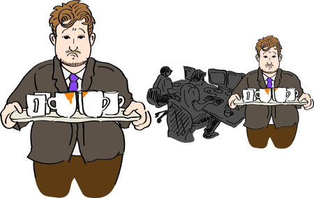 sadness business man in office Ilustração