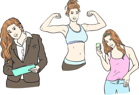 working women,healthy woman