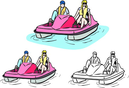 pedal boat vector art