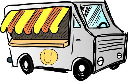 food truck cartoon Ilustração