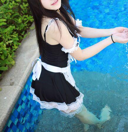 Sensual beautiful woman with perfect body posing naked Stock Photo