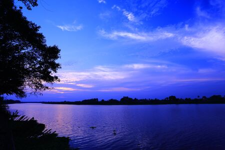 zambezi: Sunset and rivers Stock Photo