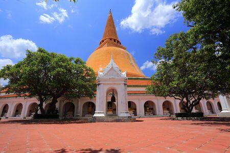 nakhon: Phra Pathom Chedi, pagoda, the landmark of Nakhon Pathom Stock Photo