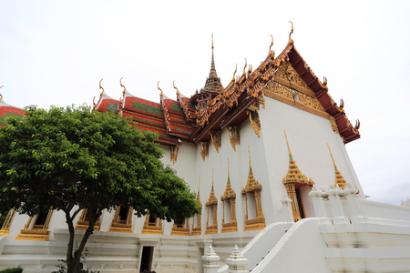 maha: The Dusit Maha Prasat Palace at Ancient Siam in Samut Prakan, Thailand