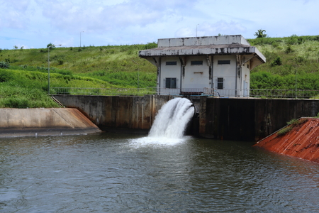 dam: sluice dam Stock Photo