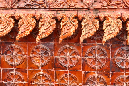 hollow walls: Thailand texture in temple