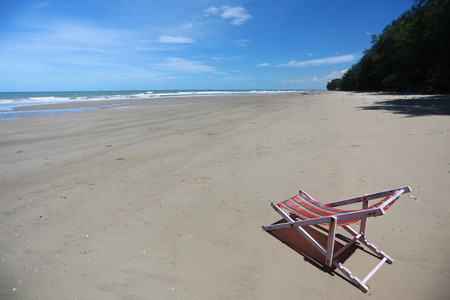 seashores: beach chair on seashore