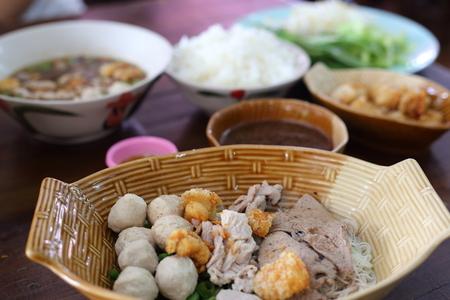 Boat Noodle Thailand style noodle soup