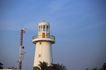 rayong: lighthouse in Rayong at Thailand Stock Photo