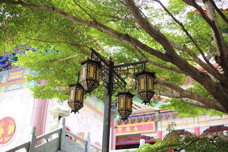 Wat Borom Raja Kanjanapisek (Wat Leng Nei Yee 2) in Nonthaburi, Thailand Stock fotó