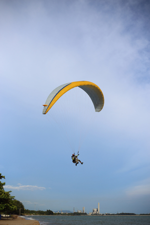 parachute in to the sky