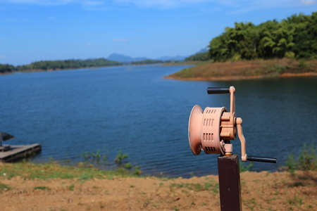 Hand Operated Siren at river, Thailand