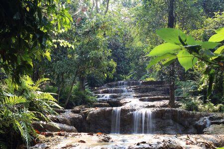Mae Kae 2 waterfall or Kaofu waterfall in Lampang, Thailand