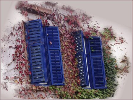 shutters: Blue Shutters