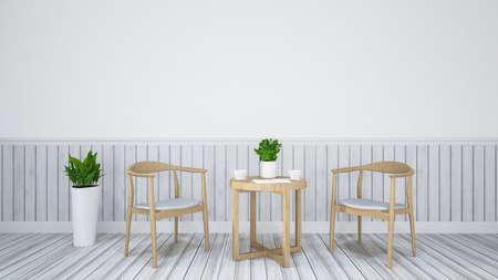 restaurant interior design: Dining set for Restaurant -Interior design 3d Illustration