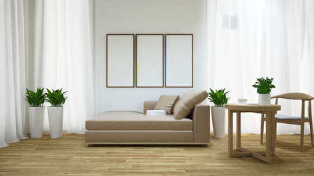 daybed: Living space - 3D Illustration Stock Photo