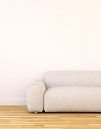 modern living room: Sofa in living room clean design - 3d rendering Stock Photo