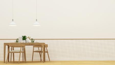 Salle à manger ou restaurant - Rendu 3D Banque d'images - 76670629