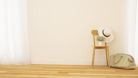 living room or gallery minimal design - 3D Rendering