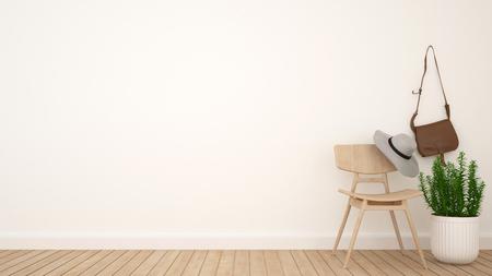 ドレッシング ルームとアートワーク - 3 D の空間のレンダリング 写真素材