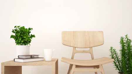 Living Room Or Coffee Shop - 3D Rendering Stock Photo, Picture And ...
