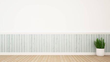 部屋の装飾とアートワークの 3 d レンダリングのためのスペースに植える 写真素材
