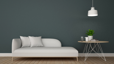 daybed: living area in cafe or lounge - 3D Rendering