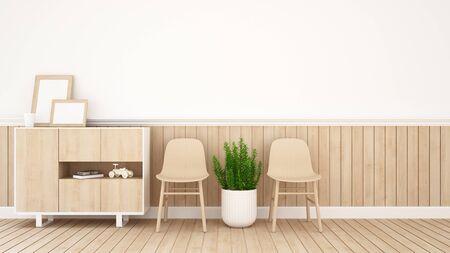 condo: living area in coffee shop or kid room - 3D Rendering
