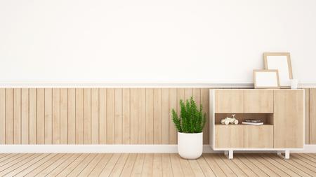 living room design: living area in coffee shop or kid room- 3D Rendering