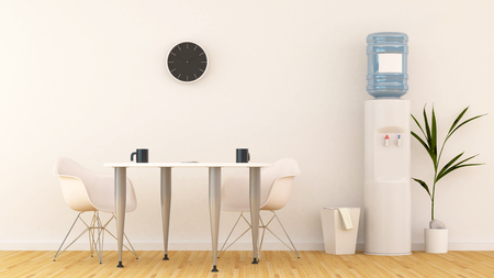 Espace de réunion ou garde-manger en bureau-rendu 3D Banque d'images - 79064041