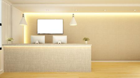 カウンターレセプション設計 - 3Dレンダリング