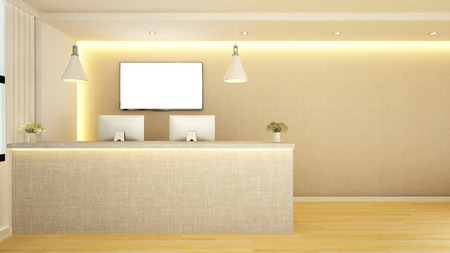 counter reception design - 3d Rendering