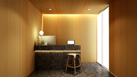 reception in lobby for artwork of hotel or Office - 3D Rendering Banque d'images - 111019843