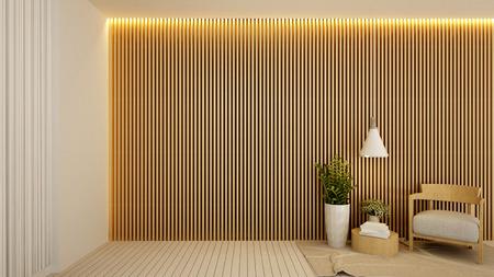 living area in hotel or apartment , Interior Design - 3D Rendering Archivio Fotografico - 111019862