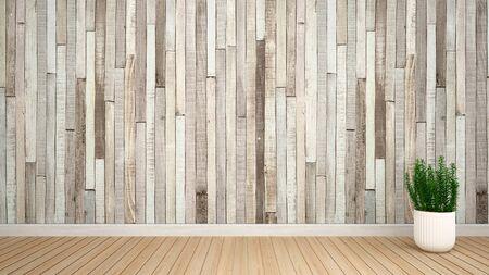 plant in empty room for artwork - Interior design - 3D Rendering Imagens