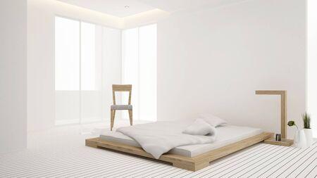 bedroom and living area in hotel or apartment - Interior design - 3D Rendering Reklamní fotografie