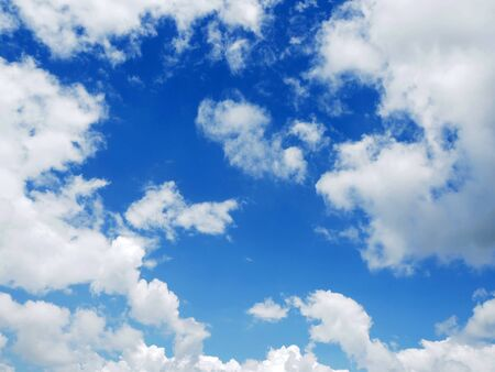 cloud on clear sky - image for artwork Archivio Fotografico - 128997720