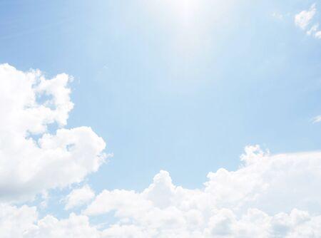 cloud on clear sky - image for artwork - Bright tone Archivio Fotografico - 128997718