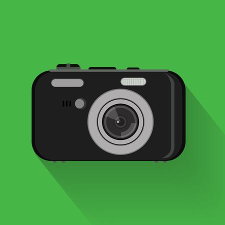 camera symbol: camera set . flat graphic compact camera symbol
