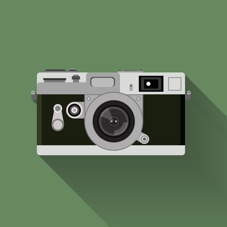 camera symbol: camera set . flat graphic vintage camera symbol